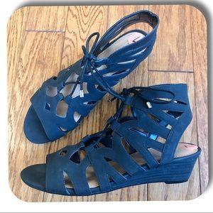 Franco Sarto Upstart Lace-Up Wedge Sandal